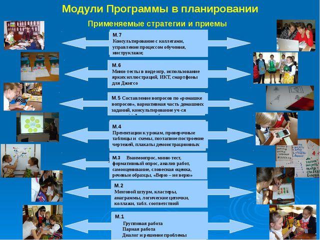 Модули Программы в планировании М1. Новые подходы в преподавании и обучении....