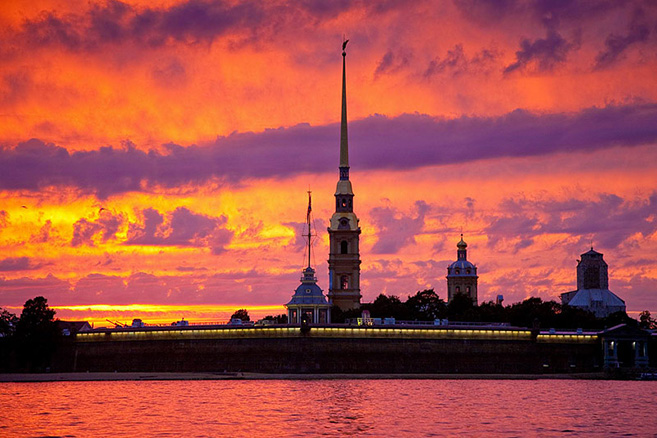 The Peter and Paul Fortress in Saint Petersburg, Russia