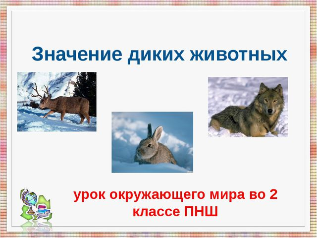 Значение диких животных урок окружающего мира во 2 классе ПНШ