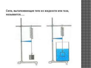 Сила, выталкивающая тело из жидкости или газа, называется…..