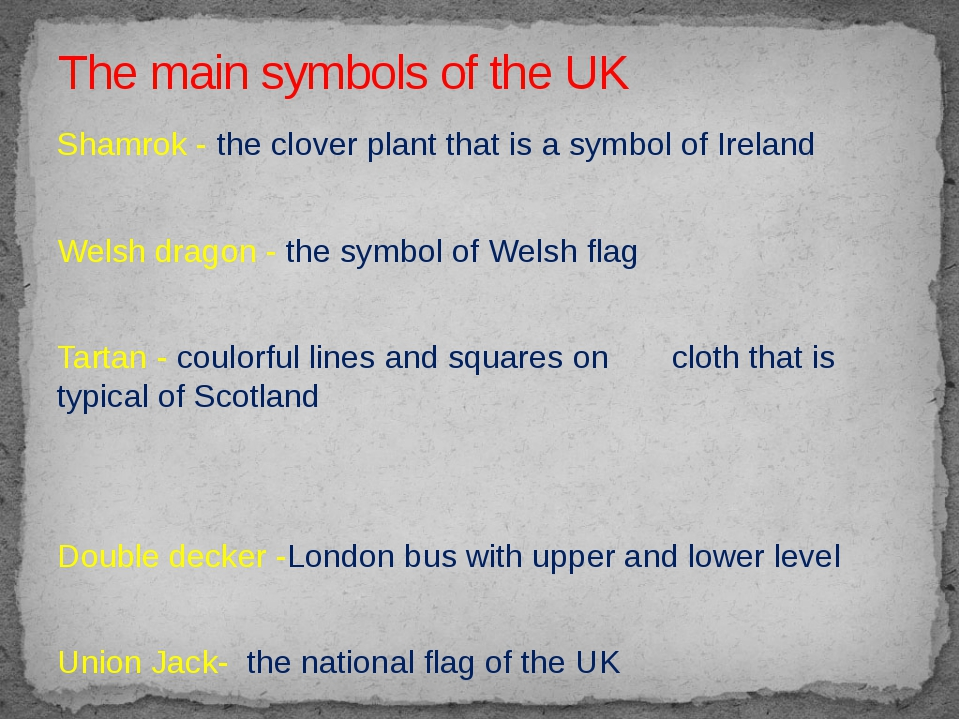 Shamrok - the clover plant that is a symbol of Ireland Welsh dragon - the sym...