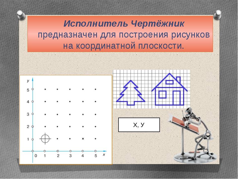 Исполнитель Чертёжник предназначен для построения рисунков на координатной пл...