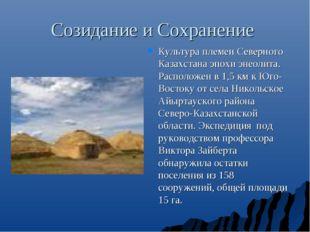 Созидание и Сохранение Культура племен Северного Казахстана эпохи энеолита. Р