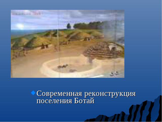 Современная реконструкция поселения Ботай