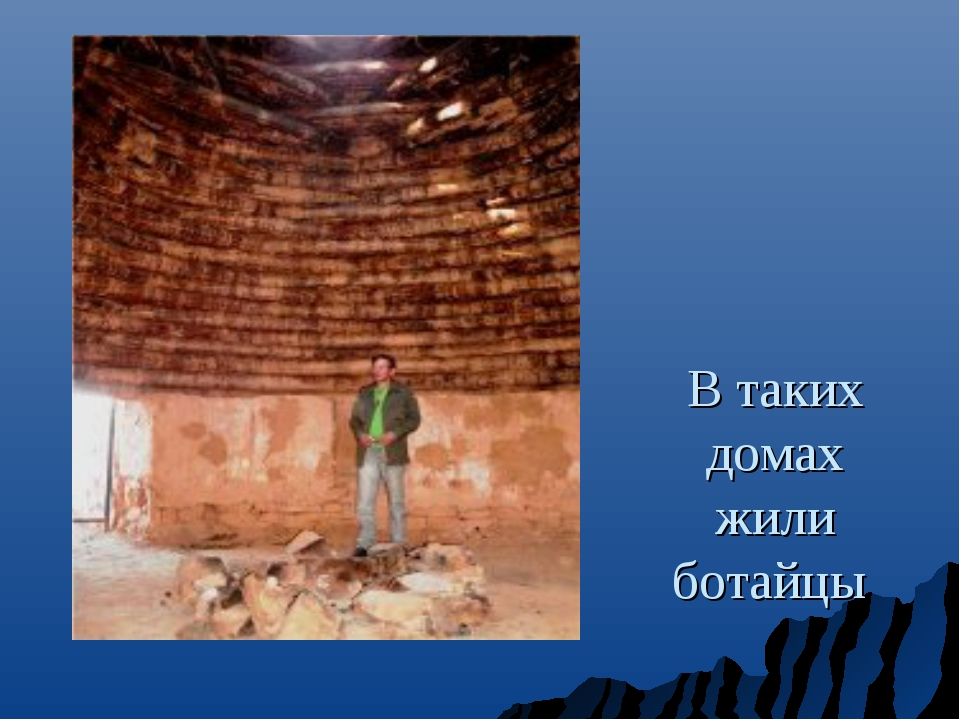 В таких домах жили ботайцы