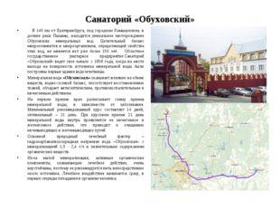 Санаторий «Обуховский»  В 140 км от Екатеринбурга, под городком Камышловом