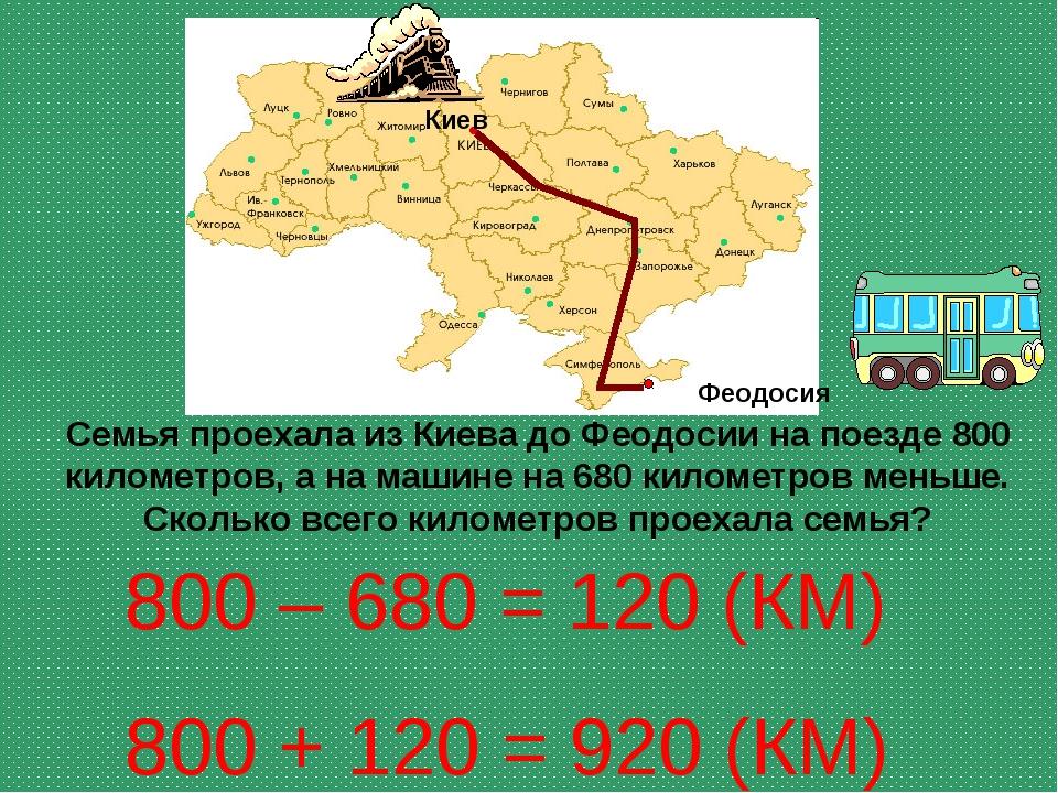 Семья проехала из Киева до Феодосии на поезде 800 километров, а на машине на...