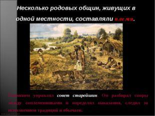 © Жадаев Д.Н., 2005 Несколько родовых общин, живущих в одной местности, соста
