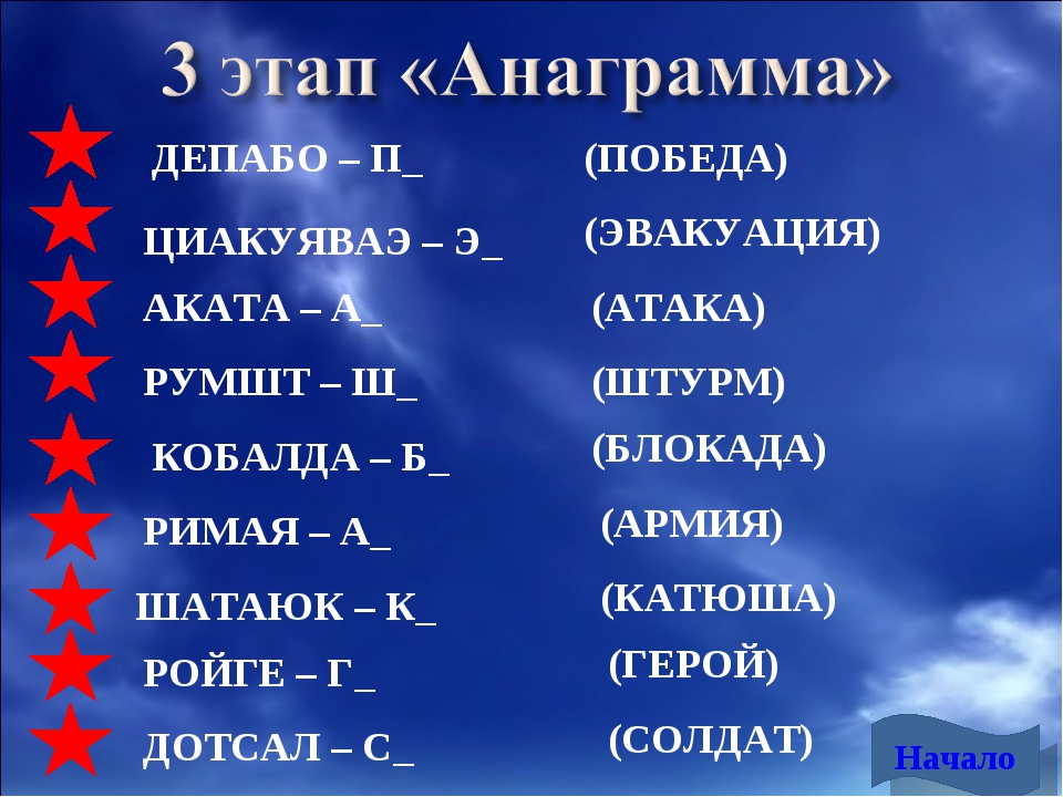 ДЕПАБО – П_ ЦИАКУЯВАЭ – Э_ АКАТА – А_ РУМШТ – Ш_ КОБАЛДА – Б_ РИМАЯ – А_ ШАТА...