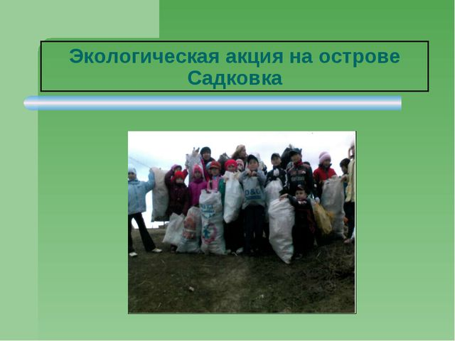 Экологическая акция на острове Садковка