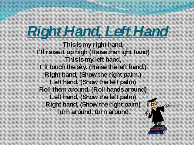 Right Hand, Left Hand This is my right hand, I'll raise it up high (Raise the...