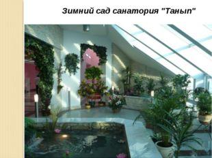 """Зимний сад санатория """"Танып"""""""