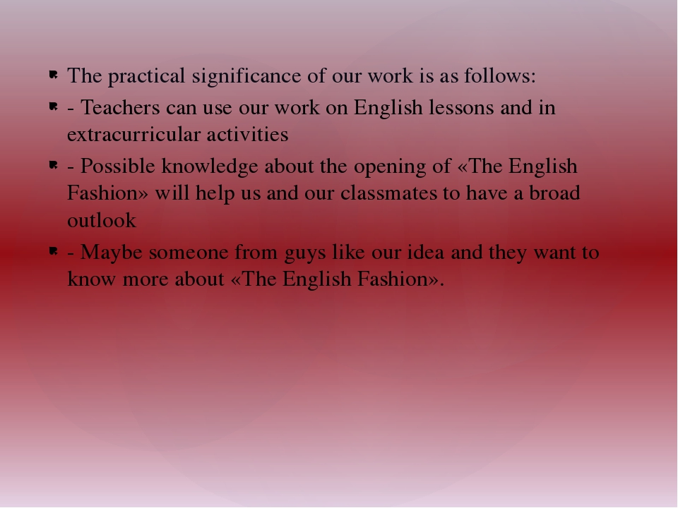 The practical significance of our work is as follows: - Teachers can use our...
