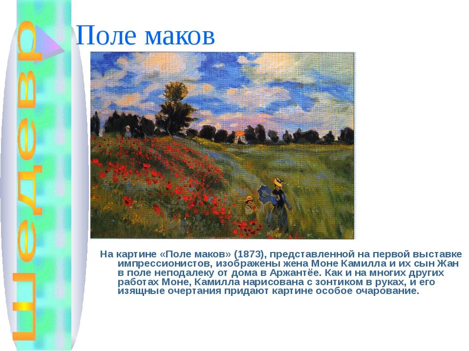 Поле маков На картине «Поле маков» (1873), представленной на первой выставке...