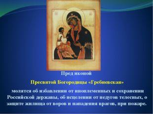 Пред иконой Пресвятой Богородицы «Гребневская» молятся об избавлении от иноп