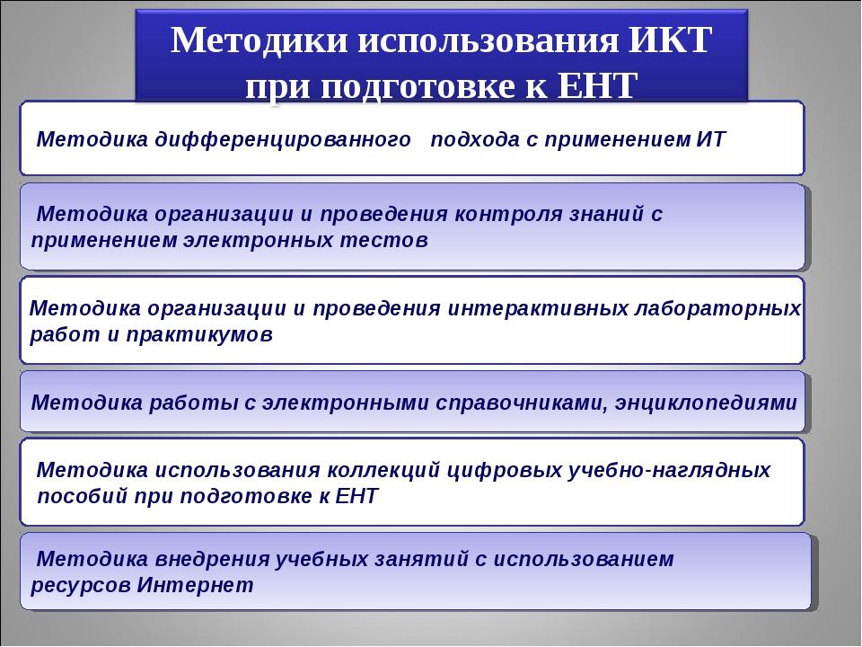Методика дифференцированного подхода с применением ИТ Методика организации и...