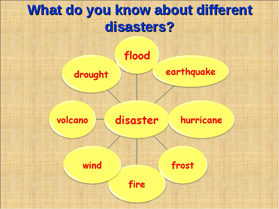 What do you know about different disasters?