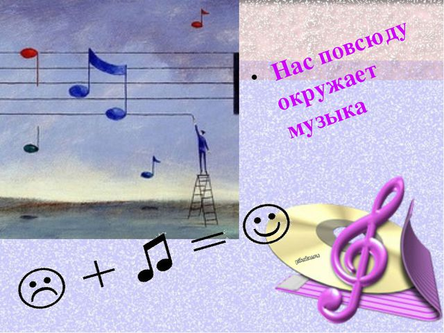 Нас повсюду окружает музыка