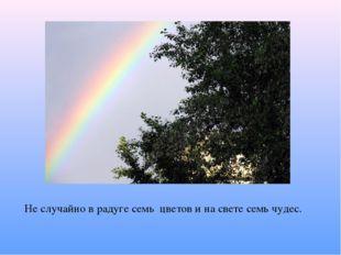 Не случайно в радуге семь цветов и на свете семь чудес.