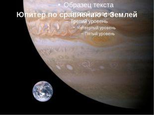 Юпитер по сравнению с Землей