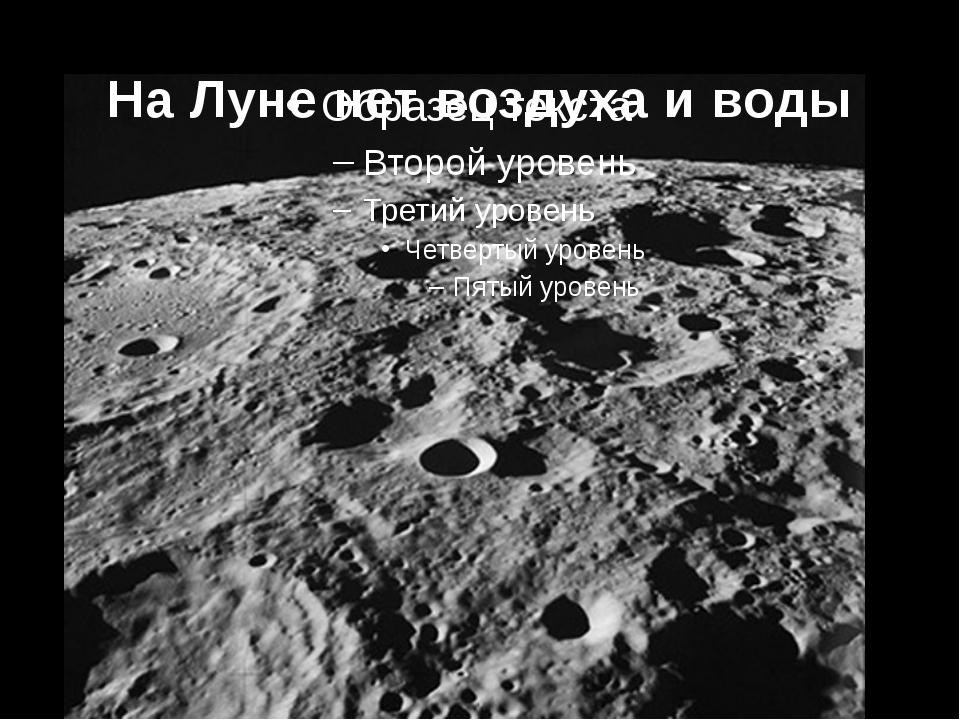 На Луне нет воздуха и воды