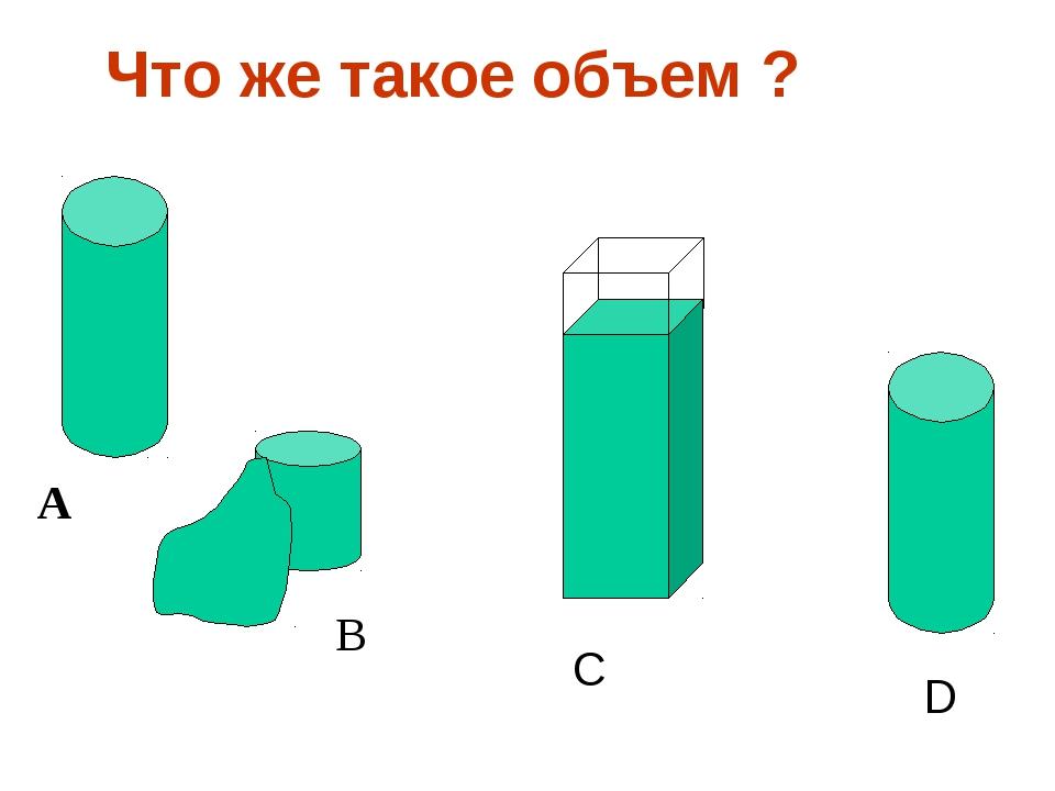 Что же такое объем ? A B C D