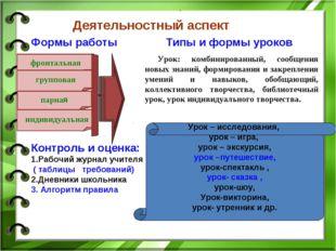 . Урок: комбинированный, сообщения новых знаний, формирования и закрепления у