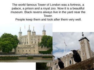 The world famous Tower of London was a fortress, a palace, a prison and a roy