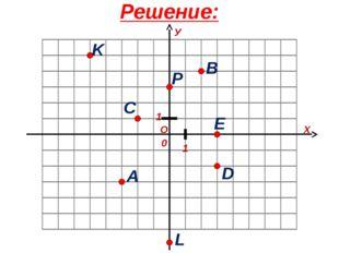 Решение: О Х У 1 1 0 A B C D E K P L
