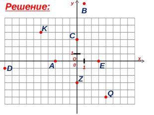 Решение: О Х У 1 1 0 A B C D E K Z Q