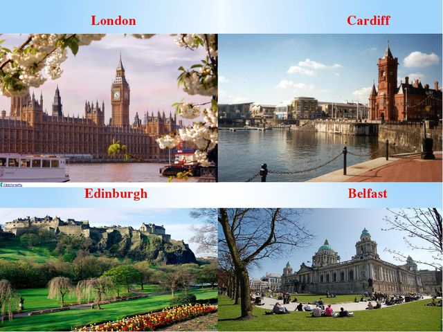 London Cardiff Edinburgh Belfast
