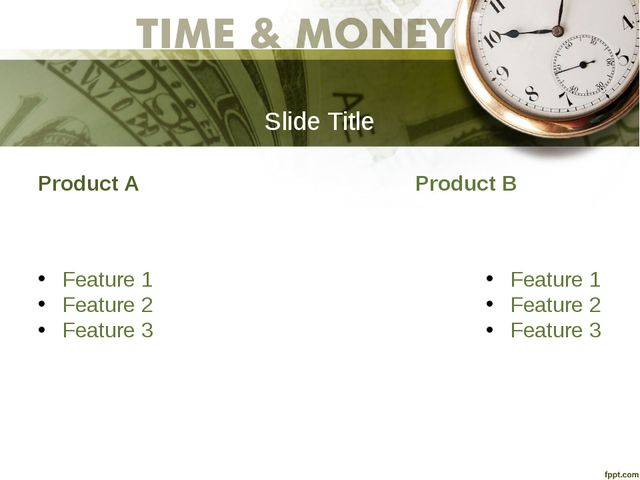Slide Title Product A Feature 1 Feature 2 Feature 3 Product B Feature 1 Featu...