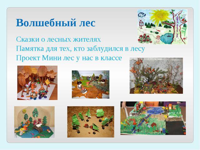 Волшебный лес Сказки о лесных жителях Памятка для тех, кто заблудился в лесу...