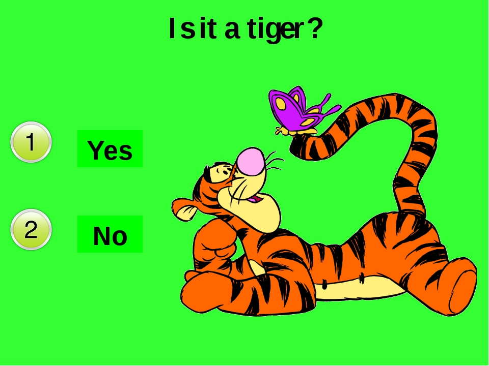 Is it a tiger? No Yes Да Нет