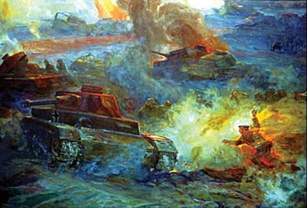 Подвиг Михаила Паникахи. Фрагмент полотна панорамы «Сталинградская битва»
