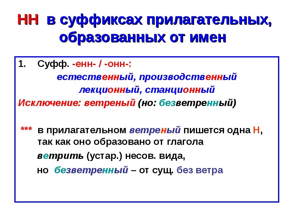 НН в суффиксах прилагательных, образованных от имен Суфф. -енн- / -онн-: ест...