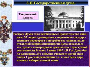 Роспуск Думы стал неизбежным.Правительство обви-нило 55 социал-демократов в п
