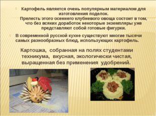 Картофель является очень популярным материалом для изготовления поделок. Прел
