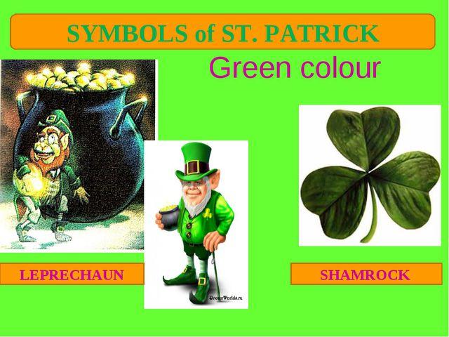 Green colour SHAMROCK LEPRECHAUN SYMBOLS of ST. PATRICK