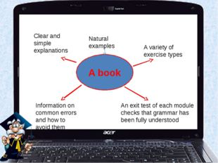 A book Clear and simple explanations Natural examples A variety of exercise t