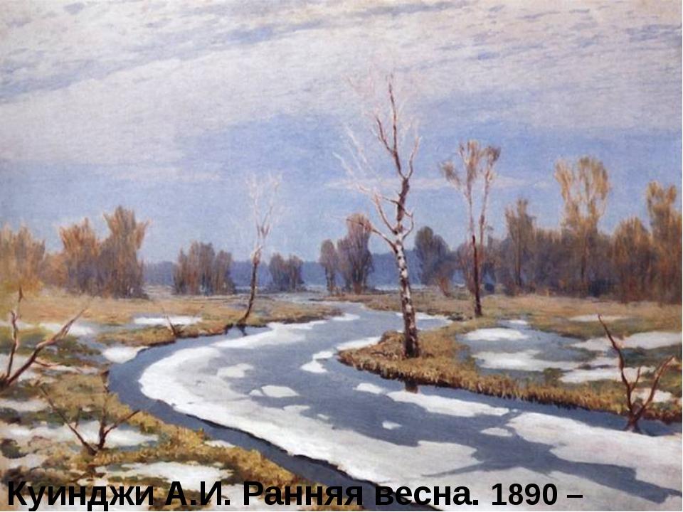 Куинджи А.И. Ранняя весна. 1890 – 1895 гг.