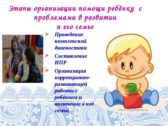 Этапы организации помощи ребёнку с проблемами в развитии и его семье Проведен...