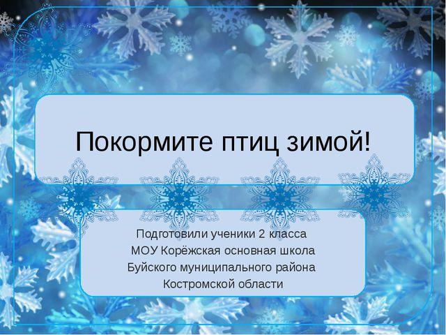 Покормите птиц зимой! Подготовили ученики 2 класса МОУ Корёжская основная шко...