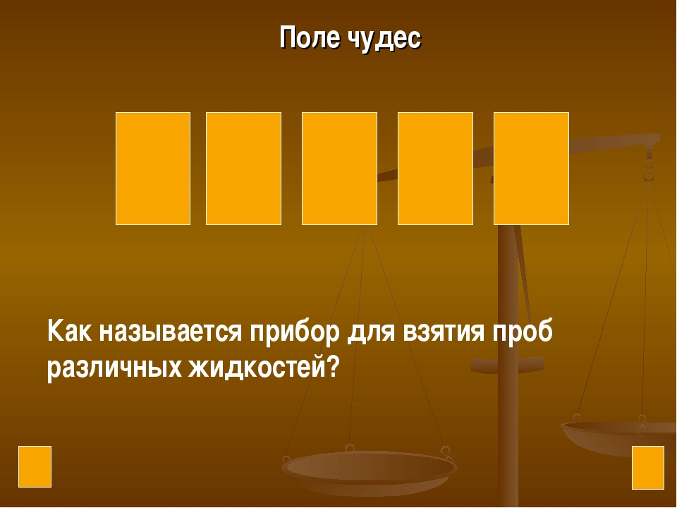 Р Е В И Л Поле чудес Как называется прибор для взятия проб различных жидкостей?