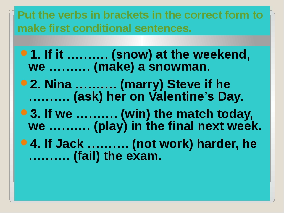 Keys 1.snows, will make 2.will marry, asks 3.win, will play 4.doesn't work,...