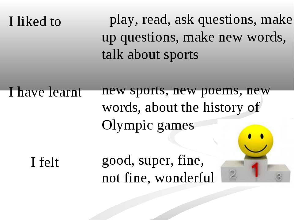 play, read, ask questions, make up questions, make new words, talk about spo...