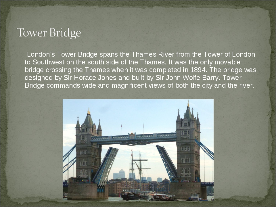 London's Tower Bridge spans the Thames River from the Tower of London to Sou...