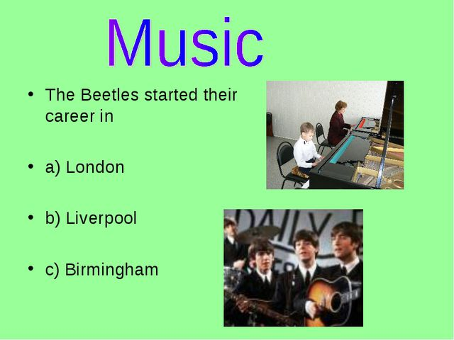 The Beetles started their career in
