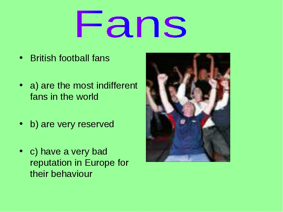 British football fans