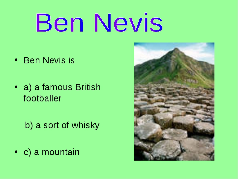Ben Nevis is 
